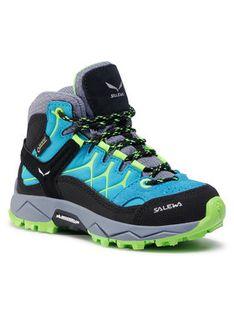 Salewa Trekkingi Jr Alp Trainer Mid Gtx GORE-TEX 64006-8375 Niebieski