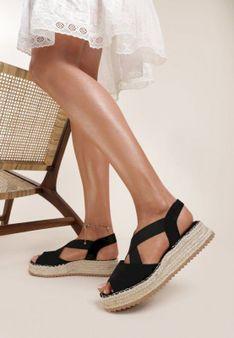 Czarne Sandały Orphophi
