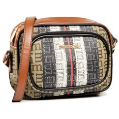 Torebka MONNARI - BAG7100-M17 Beige With Blk With Brn With Pat 2020