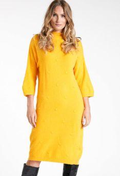 Swetrowa sukienka z domieszką wełny