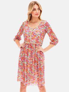 Sukienka z motywem kwiatów z dodatkiem połyskującej nici L'AF FLOWI
