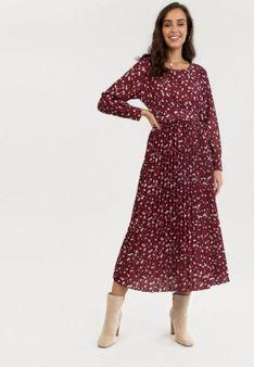 Bordowa Sukienka Jiless