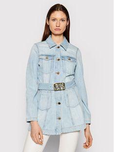 Pinko Kurtka jeansowa Logan PE 21 PDEN 1J10MA Y649 Niebieski Slim Fit