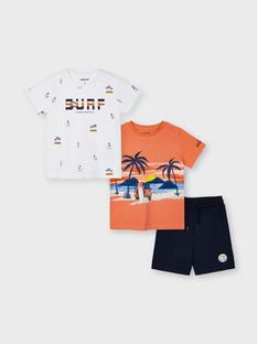 Mayoral Komplet T-Shirt i szorty sportowe 3641 Kolorowy Regular Fit