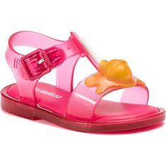 Sandały dziecięce różowe Melissa z klamrą z tworzywa sztucznego