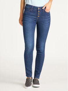 Lee Jeansy Skinny Fit Button Thru Scarlett L31YRONR Granatowy Skinny Fit