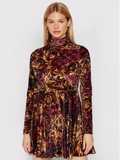 Versace Jeans Couture Sukienka dzianinowa 71HAO928 Czarny Regular Fit