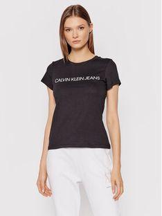 Calvin Klein Jeans T-Shirt Institutional J20J207879 Czarny Regular Fit
