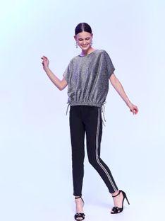 Spodnie damskie z lamówkami