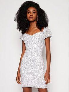 Guess Sukienka koktajlowa W1GK0R KAM20 Biały Slim Fit