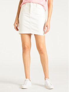 Lee Spódnica jeansowa L38JKW36 Biały Regular Fit
