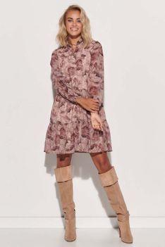 Romantyczna Sukienka w Kwiatowy Wzór - Model 9