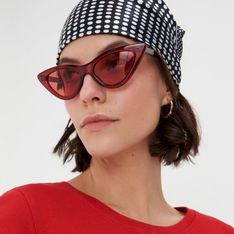 Sinsay - Okulary przeciwsłoneczne - Czerwony