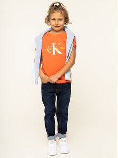 Calvin Klein Jeans T-Shirt IG0IG00221 Pomarańczowy Regular Fit