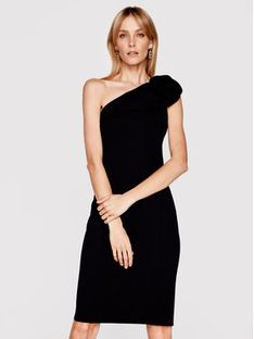 Babylon Sukienka koktajlowa N_MF5012 Czarny Slim Fit