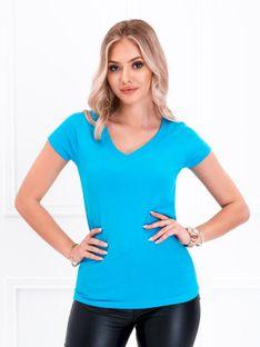 T-shirt damski basic 002SLR - turkusowy