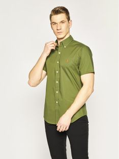 Polo Ralph Lauren Koszula Classics 710795272 Zielony Slim Fit