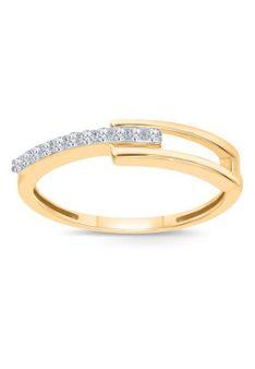 Revoni - Pierścionek - 14K złoto - 0,11 ct diament - złoty