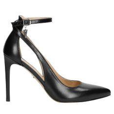 Wojas Pełne Elegancji Czarne Szpilki Z Kryształkiem Swarovskiego