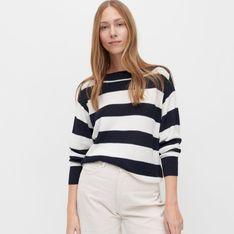 Reserved - Sweter z dekoltem w łódkę - Wielobarwny