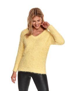 Miękki sweter z dekoltem w serek