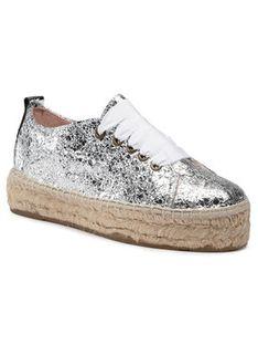 Manebi Espadryle Sneakers D G 0.3 E0 Srebrny