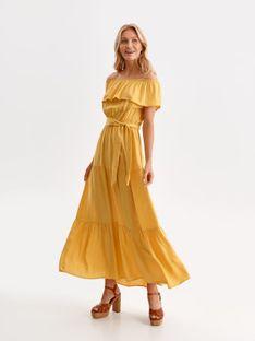 Sukienka z falbaną i wiązaniem