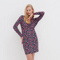 House - Dzianinowa sukienka w kwiaty - Wielobarwny