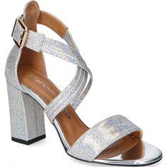 Sandały damskie Prestige na obcasie eleganckie z zamszu