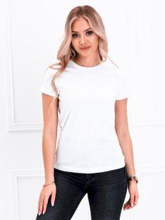T-shirt damski basic 001SLR - biały