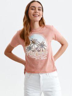 T-shirt z nadrukiem w palmy