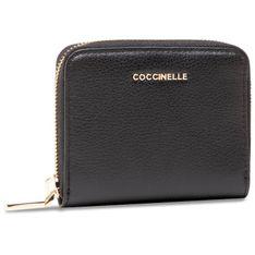 Mały Portfel Damski COCCINELLE - HW5 Metallic Soft E2 HW5 11 A2 01 Noir 001