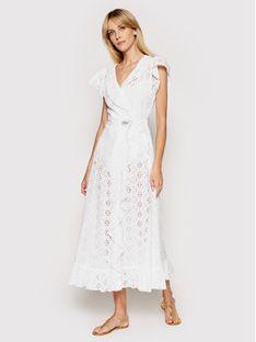 Melissa Odabash Sukienka plażowa Brianna CR Biały Regular Fit