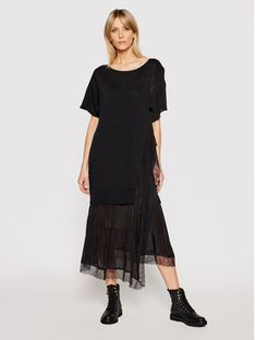 TwinSet Sukienka codzienna 211TT3151 Czarny Regular Fit