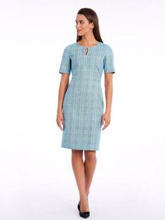 Elegancka sukienka w kratę Potis & Verso ORCHIDEA