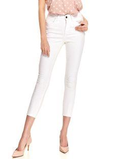 Białe spodnie jeansowe skinny