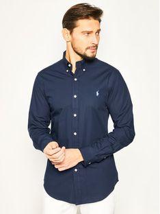 Polo Ralph Lauren Koszula Bsr 710705269 Granatowy Slim Fit