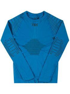 X-Bionic Bielizna termoaktywna górna Invent 4.0 INYT06W19J Niebieski Slim Fit