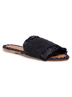 Manebi Klapki Leather Sandals S 1.6 Y0 Czarny