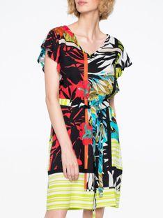 Sukienka w kolorowe liście Smashed Lemon 20289