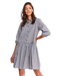 Sukienka koszulowa w kratę