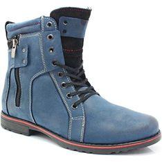 Buty zimowe męskie Kent niebieski