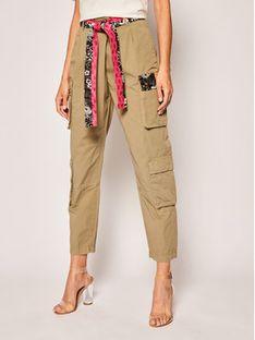 Pinko Spodnie materiałowe Ink Sarouel PE 20PBK2 1B14EN Y67H Zielony Regular Fit