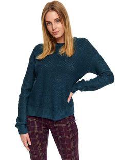 Dopasowany sweter o strukturalnym splocie
