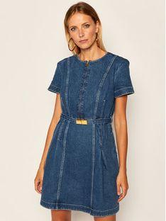 Tory Burch Sukienka jeansowa Nadia 69357 Granatowy Regular Fit