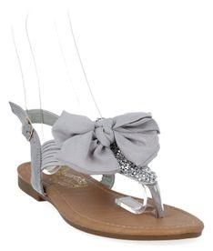 Szare modne sandały damskie firmy Bellicy