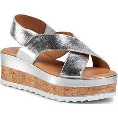 Sandały damskie casual na średnim obcasie