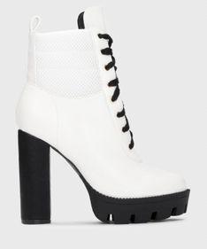 Białe botki damskie