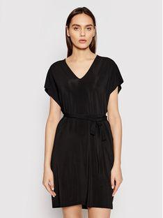 Max Mara Beachwear Sukienka plażowa Pavento 36210518600 Czarny Regular Fit