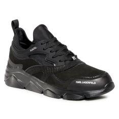 Sneakersy KARL LAGERFELD - KL51623  Black Nubuck Mono